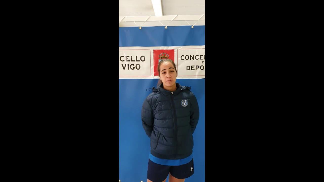 Entrevista a Lucía Camisón en su visita al Balaidos CF Femenino