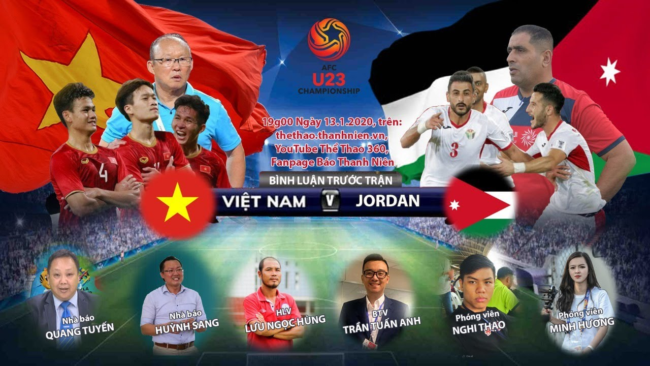 Việt Nam – Jordan | VCK U.23 châu Á 2020 | Trực tiếp bình luận trước trận