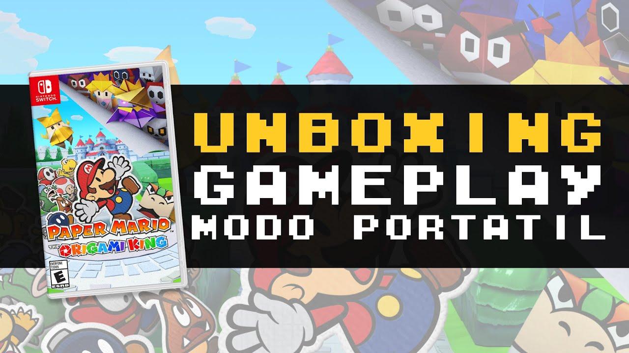 Paper Mario: The Origami King para Nintendo Switch | Unboxing + Gameplay modo portátil