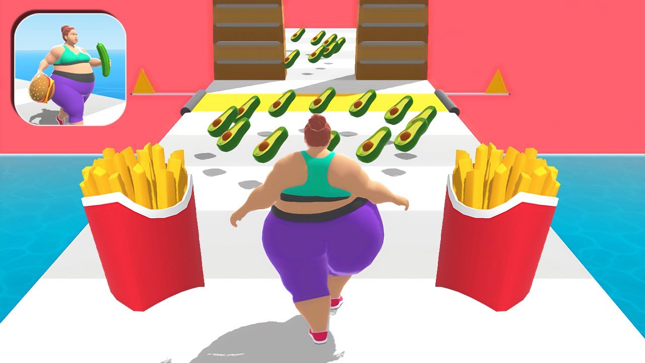 Fat 2 Fit All Levels Mobile Walkthrough Gameplay iOS,Android Fat Girl Big Update MAX Level OHD90F