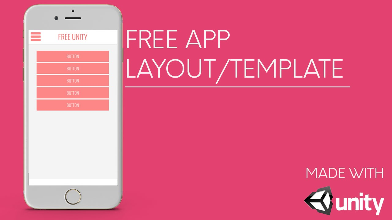 Free App Template/Layout | Unity3D - YouTube