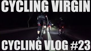 I forgot my light│Fast group Ride in the Dark│Cycling VLOG #23