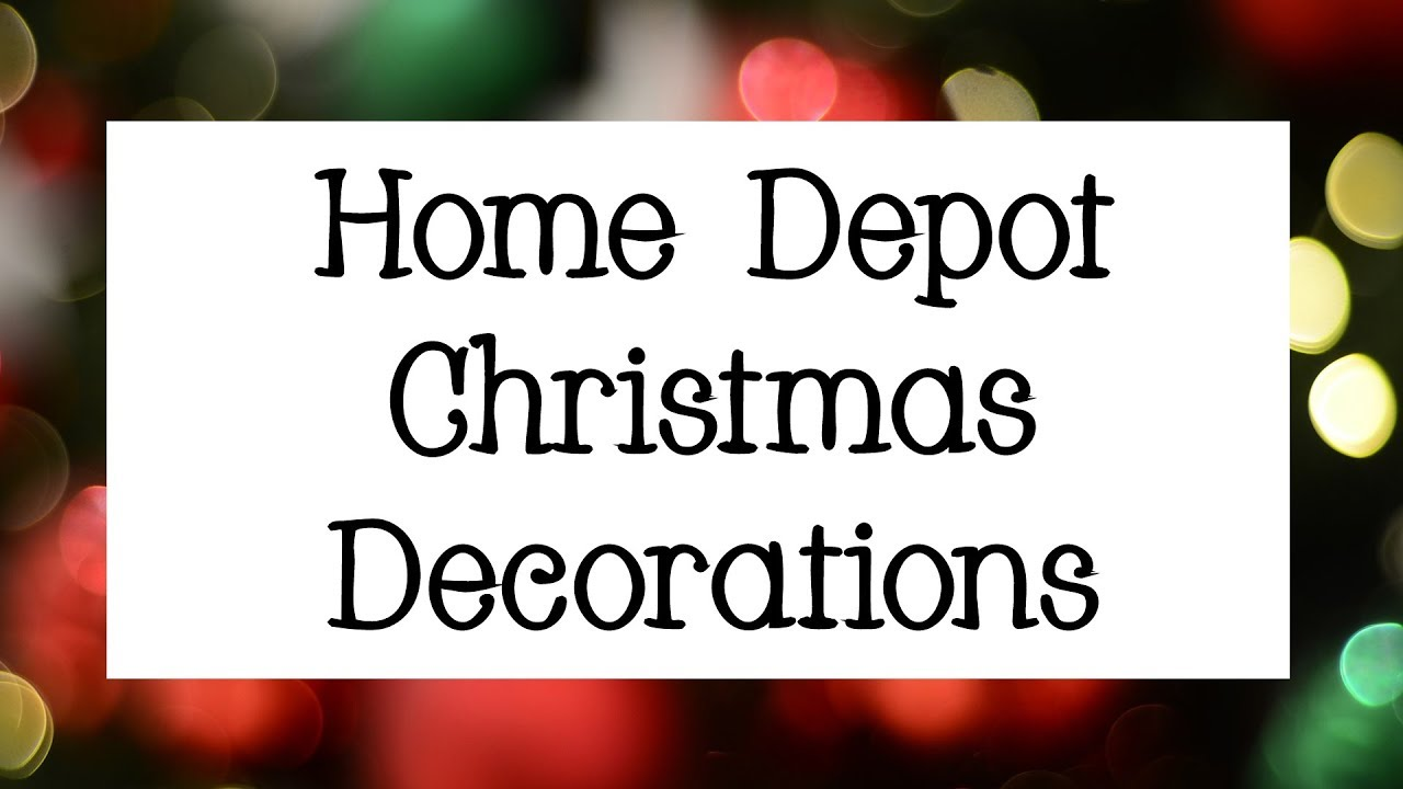 Home Depot Christmas Decorations 2018 | Shop with Me! - YouTube