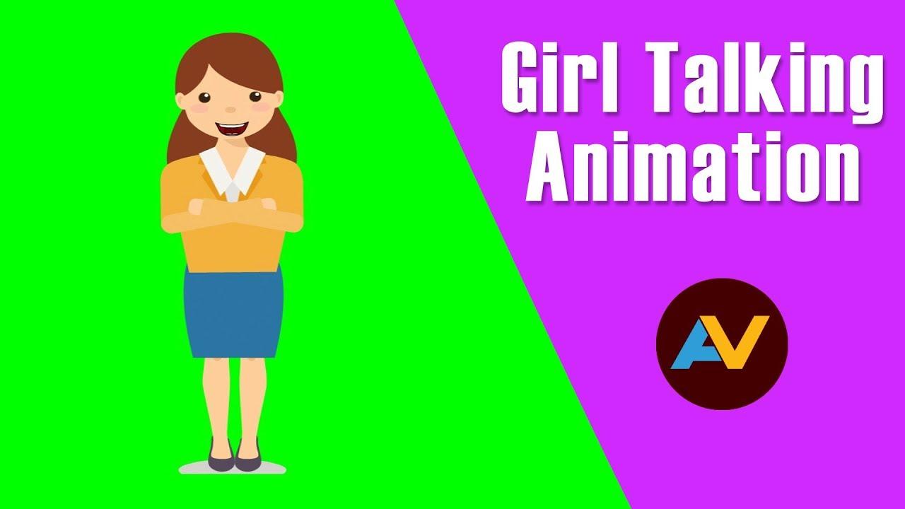 Talking Girl Animation Cartoon Girl Talk Girl Talk Green Screen Animation Youtube
