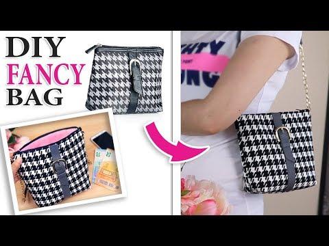 DIY PURSE BAG POPULAR DESIGN // Handbag Cute Clutch Summer Zipper Bag Fast Make