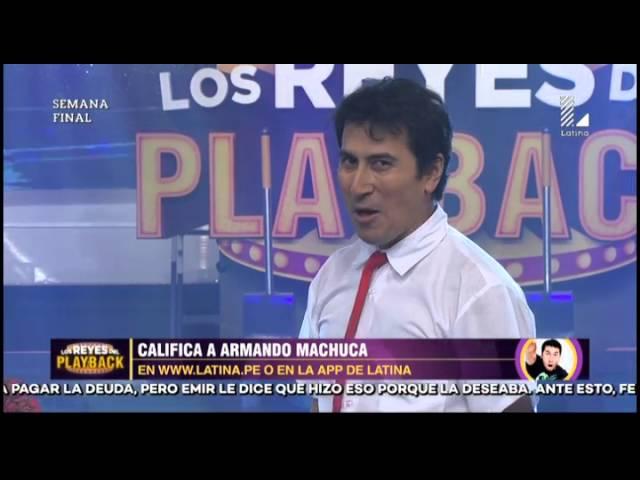 Armando Machuca retrocedió en el tiempo con este playback