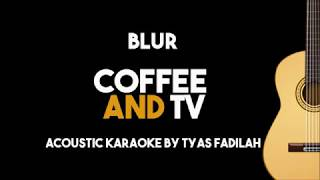 Blur - Coffee and TV (Acoustic Guitar Karaoke Backing Track with Lyrics)