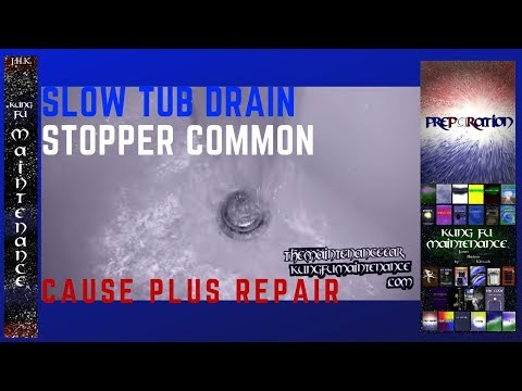 Common Problem With Bathtub Toe Stop Causing Bath Water Draining Slow Easy Fix Drain Repair Video