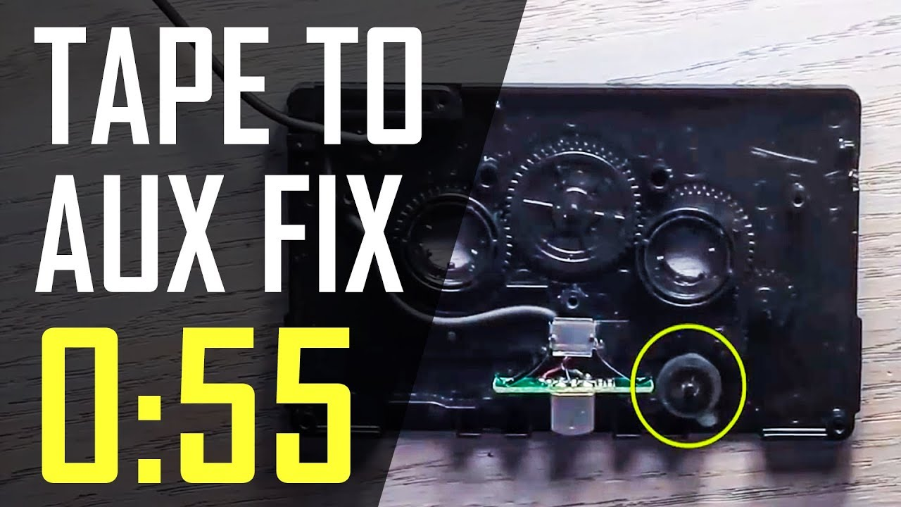 how to: fix a car cassette adapter