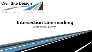 Civil Site Design - Intersection Line-marking