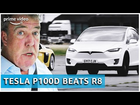 Tesla Model X review door Jeremy Clarkson | The Grand Tour | Amazon Prime Video NL