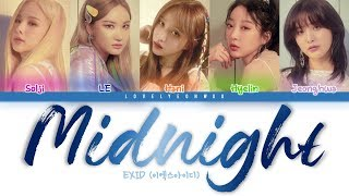 EXID (이엑스아이디) – Midnight (나의밤) Lyrics (Color Coded Han/Rom/Eng)