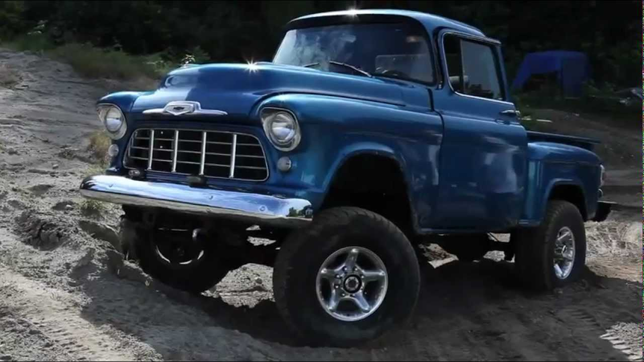 Truck 1955 chevy apache truck for sale : 57 chevy Step side 4x4 - YouTube