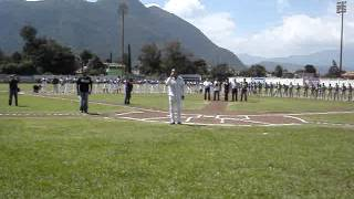 Himno Nacional Mexicano - Paco Paniagua Torneo Invernal Gallos de Santa Rosa VS Limoneros