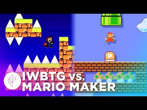 I Wanna Be The Guy's Creator Makes a Mario Maker Level – Devs Make Mario