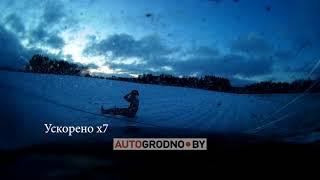 Жесткий переворот возле Гродно - видео из салона AUDI