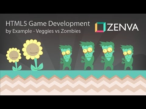 HTML5 Mobile Game Development Tutorial - Vegetables Vs Zombies