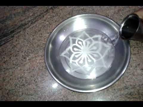 how to make rangoli on water