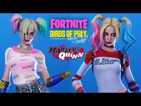Fortnite Harley Quinn Skin And Pick Axe Available Now With Gameplay Youtube