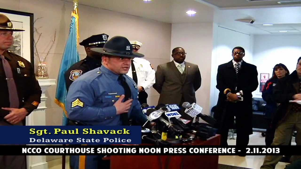 New Castle County Court House Shooting - Full Press Conference-Noon