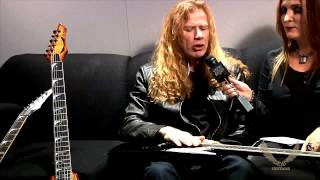 Dean Guitars N.A.M.M. 2015 Highlights -  Dave Mustaine Interview w/Full Metal Jackie Part 1 of 2
