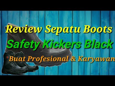 Sepatu Boots Kickers Black ( Custom Bandung )