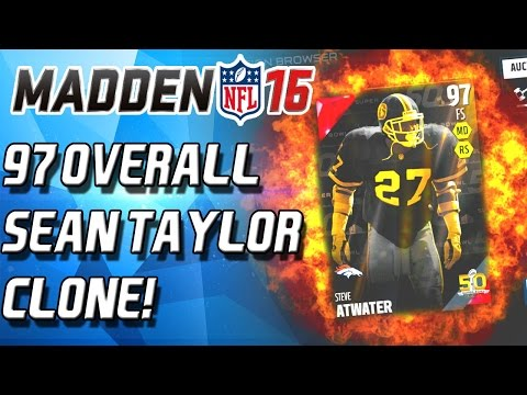 SUPERBOWL STEVE ATWATER! NEW SEAN TAYLOR CLONE! - Madden 16 Ultimate Team
