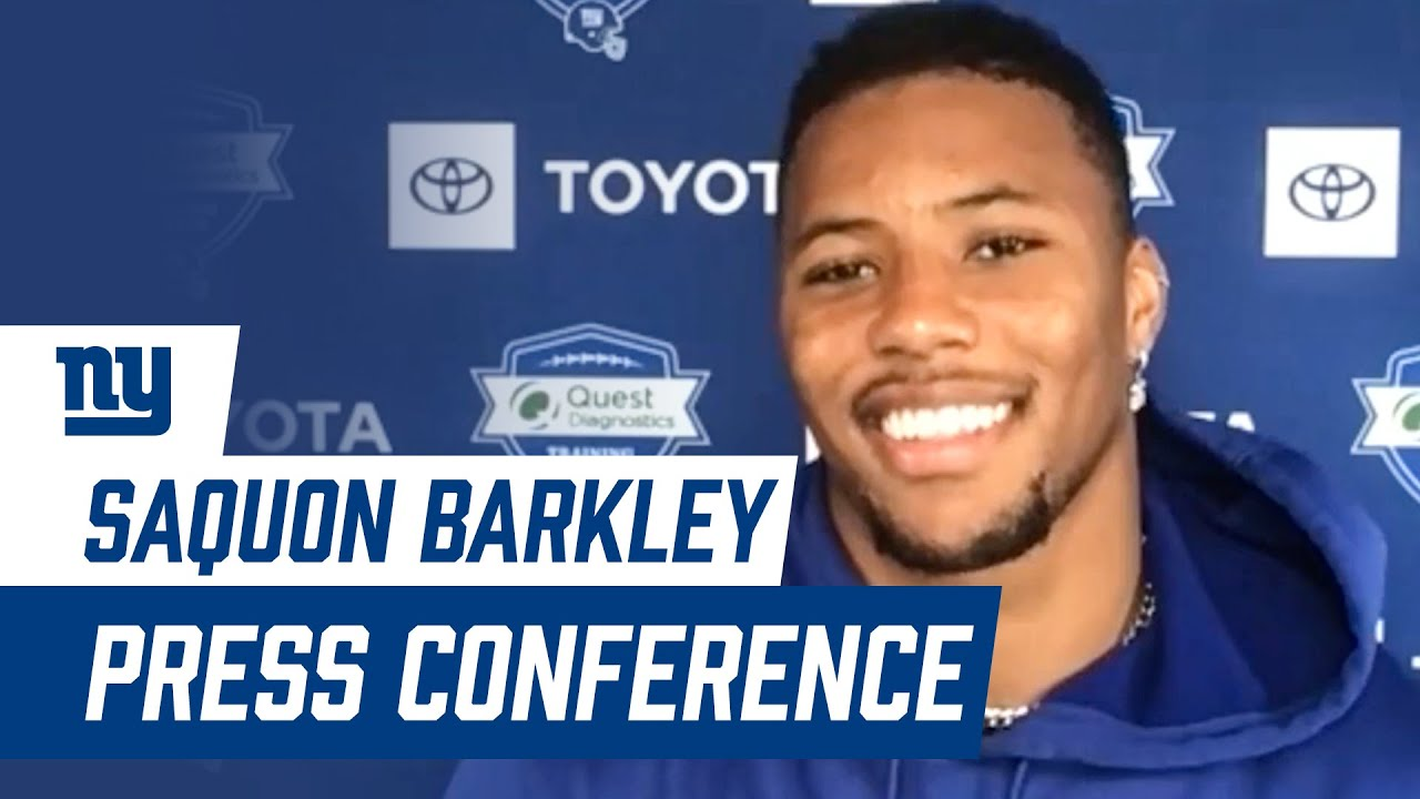 """Saquon Barkley FIRST 2020 Training Camp Press Conference: """"It's a fresh new start"""" 