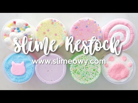 SLIME RESTOCK: NEW DIY CLAY, CLOUD, & JUMBO FLOAM! May 18th