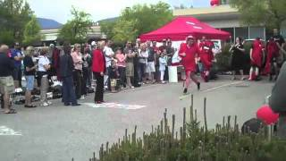 Kelowna Bc, Canada. Royal Lepage Kelowna Red Shoe Shuffle For Shelter