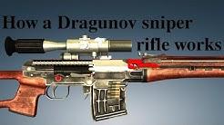 How a Dragunov sniper rifle works