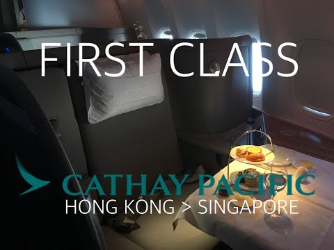 #24 [First time in First Class] Cathay Pacific CX735 to Singapore (31Dec2016)