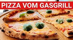 ♨️ GRILLBLITZ: Pizza vom Gasgrill original italienisch, Pizzateig selber machen, Grill, Rezept, BBQ