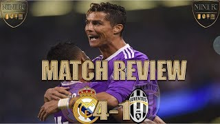 Real Madrid 4-1 Juventus Match Review - Zidane underrated - Allegri cost Juve!!!