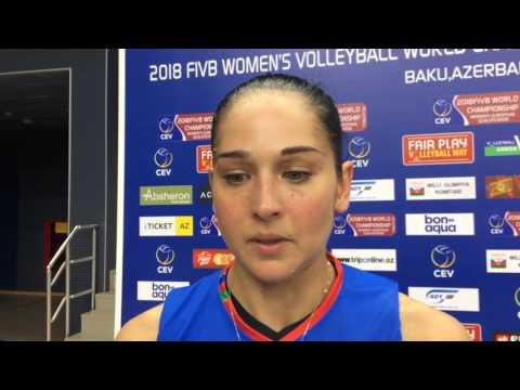 Volleyball: Azerbaijan vs Ukraine - 3:0 - Valeriya Mammadova - İNTERVİEW - 31/05/2017