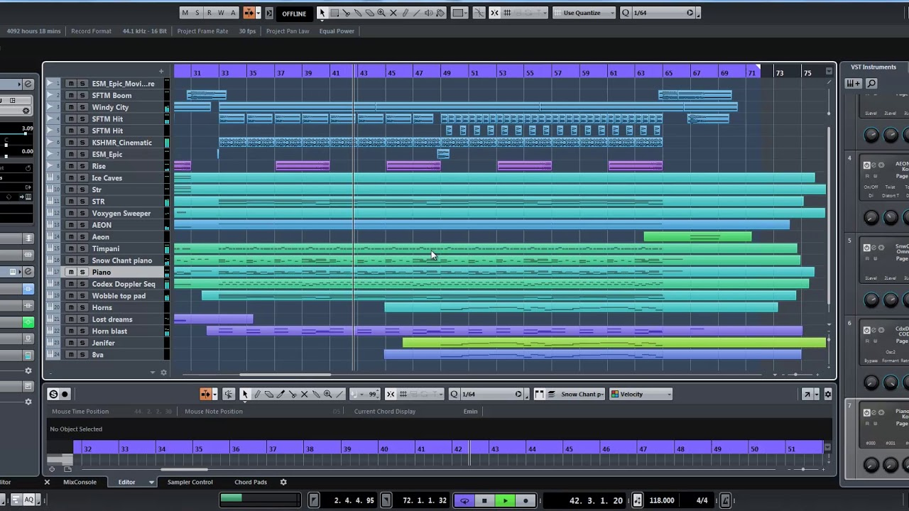 [Cubase] Epic Trailer Cinematic Template by Marshall Williams
