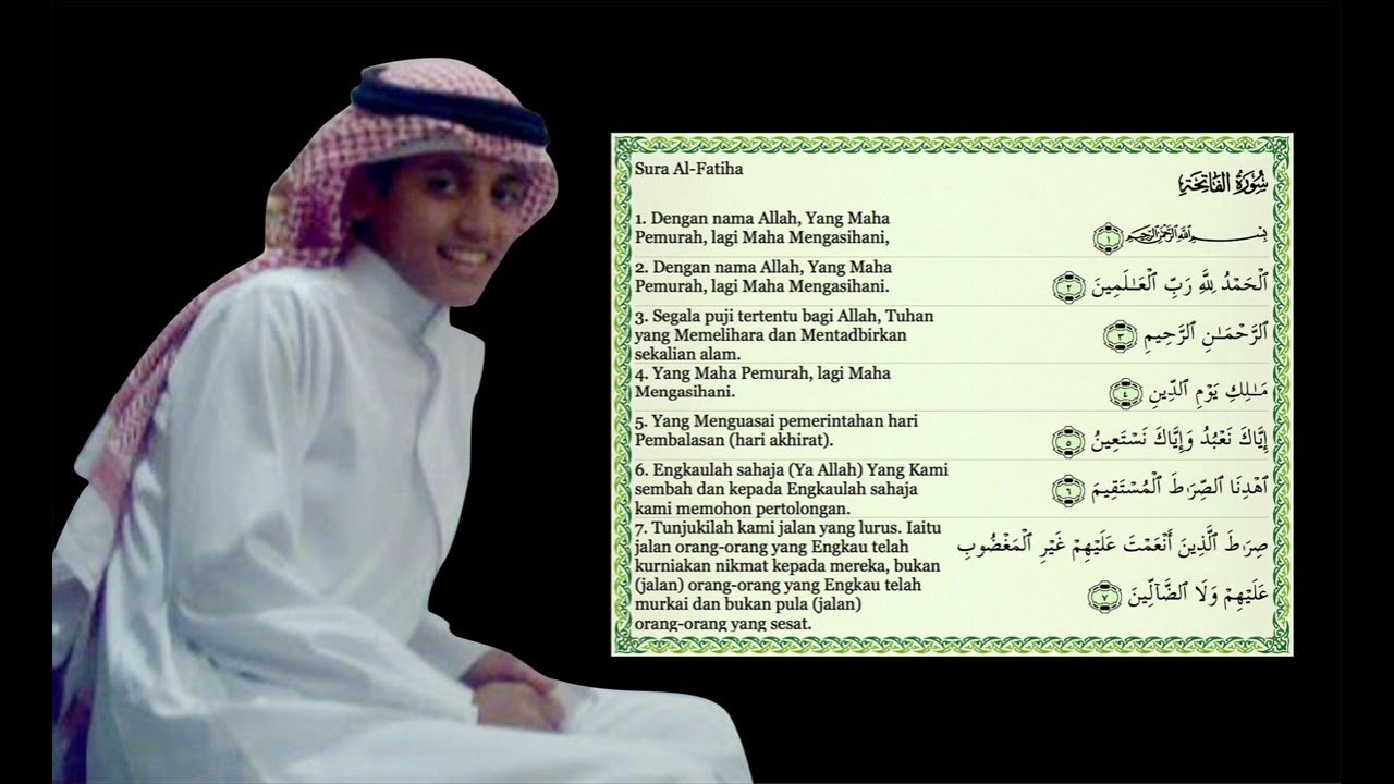 Bacaan Surat Al Fatihah Merdu Mohammad Taha Al Junayd