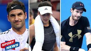 Tennis news: Andy Murray nightmare, Roger Federer win, Garbine Muguruza horror injury