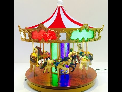 Mr. Christmas Shimmering Musical Light Up Merry Go Round Carousel