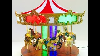 Mr. Christmas Shimmering Musical Light Up Merry Go Round Carousel