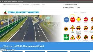 FRSC Login Portal - www.recruitment.frsc.gov.ng