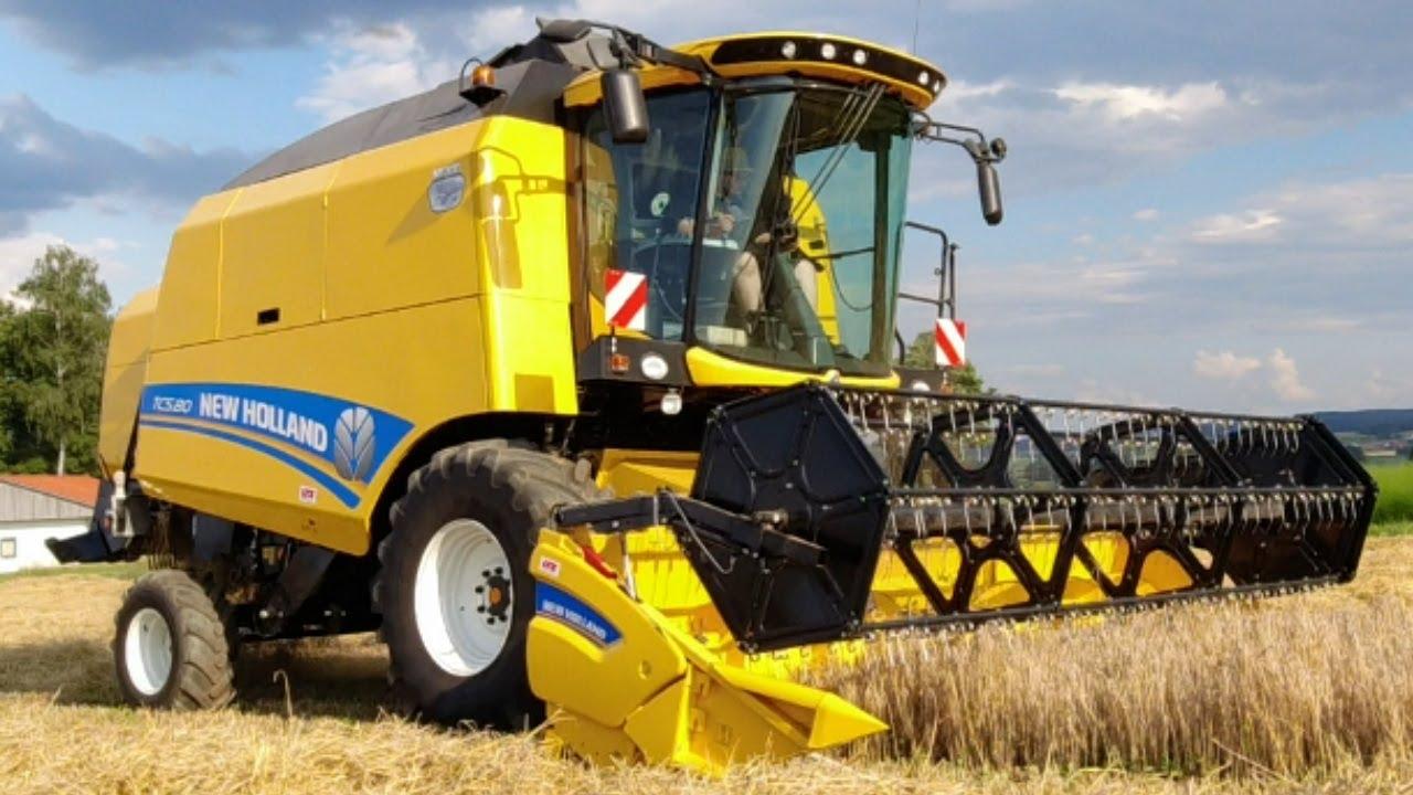Die Getreideernte 2021 beginnt ☀️ New Holland Kompaktdrescher TC 5.80 im Einsatz!
