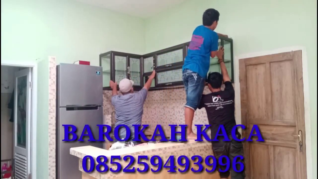 Tutorial Cara Pasang Kitchen Set Alumunium Pada Tembok Dapur Youtube