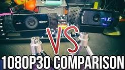 Logitech C922 vs. C920 Webcam Comparison (1080p 30 FPS) // Pro Stream Webcam