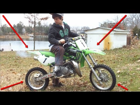 KAWASAKI KX 65 & KIDS GONE WILD - YouTube