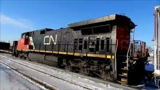 CN & VIA TRAIN IN ONE SHOT IN DORVAL / 01-26-18