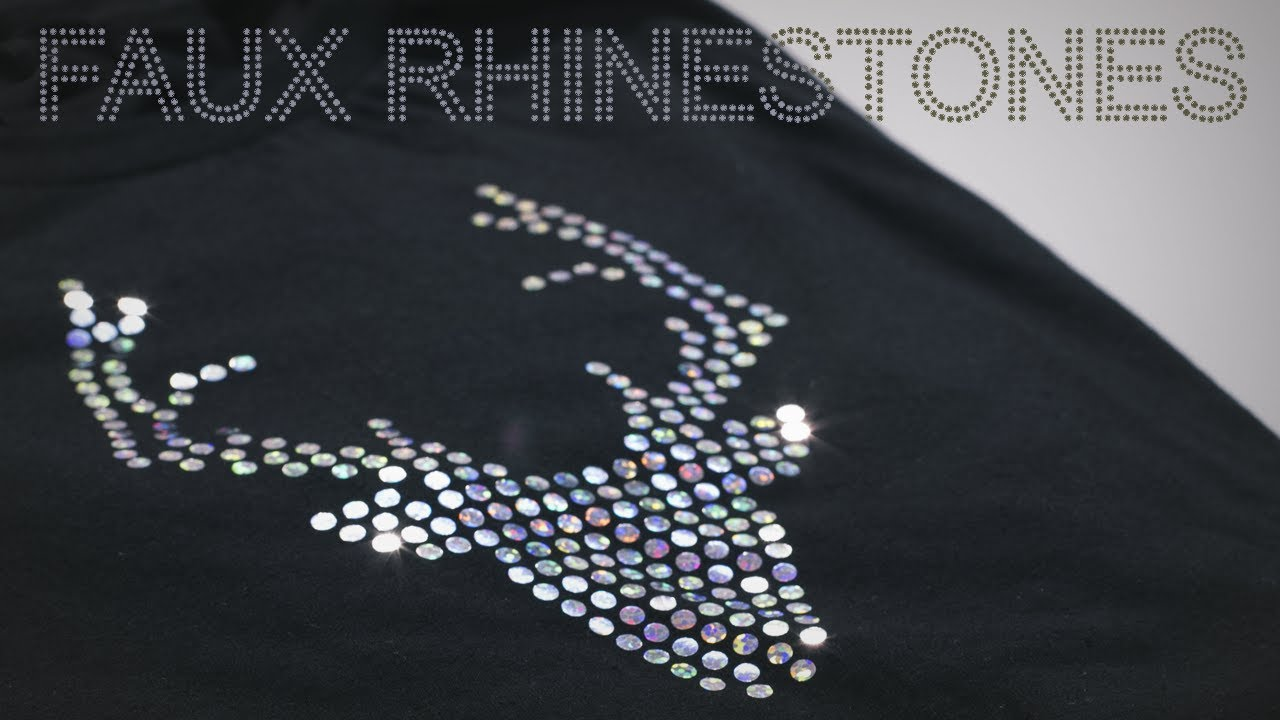 Creating Rhinestone Look Using Holographic Heat Transfer