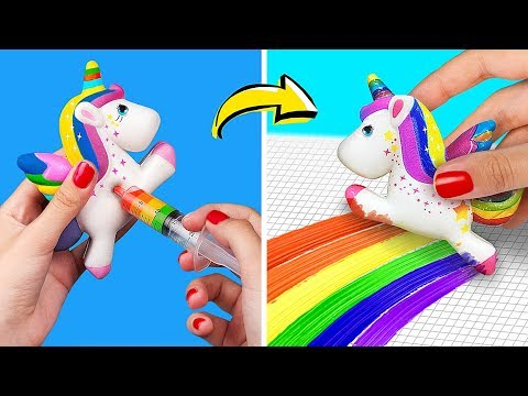 17 Weird Ways To Use Stress Relievers / Awesome Squishy Hacks And Crafts