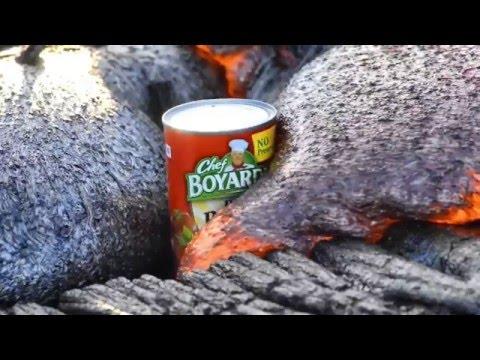 Chef Boyardee Can In Lava