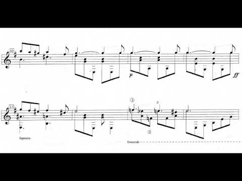 Gentil Montaña - Suite Colombiana No. 2 for Guitar: III. Bambuco (Score video)